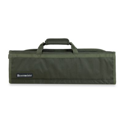 Messermeister 8-Pocket Knife Roll in Olive