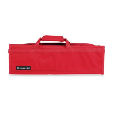 Messermeister 8-Pocket Knife Roll in Red