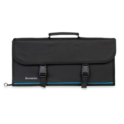 Messermeister 17-Pocket Knife Case in Black