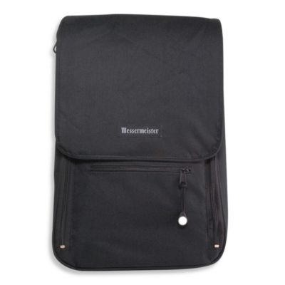 Messermeister 6-Pocket Messenger Bag in Black