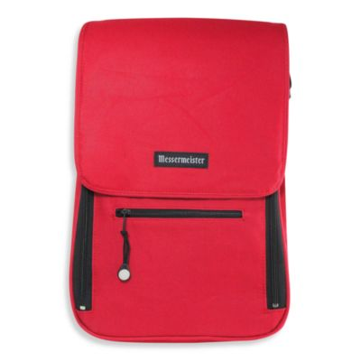 Messermeister 6-Pocket Messenger Bag in Red