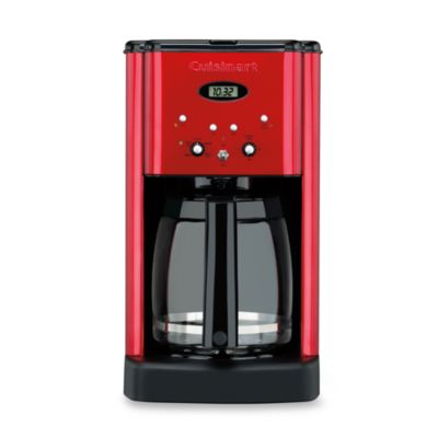 Cuisinart® Brew Central™12-Cup Programmable Metallic Red Coffee Maker