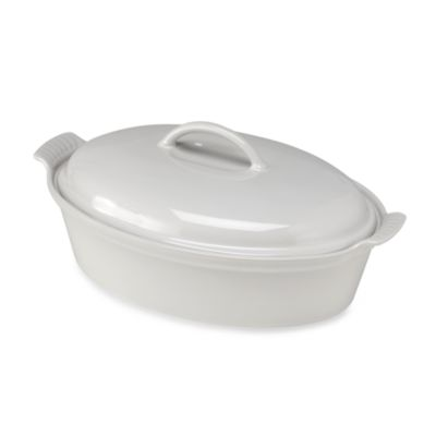 Le Creuset® 4-Quart Covered Oval Casserole in White