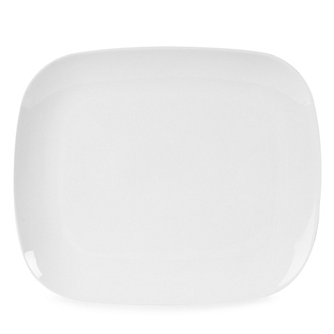 Everyday White® 8 1/4-Inch x 6 3/4-Inch Rounded Rectangle Salad Plate