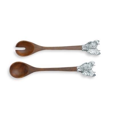 Arthur Court Designs Butterfly Wood Serving Set (Set of 2)