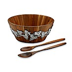 Arthur Court Designs Grape Wood 3-Piece Salad Set