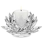 Godinger Lotus Pillar Candle Holder with Candle