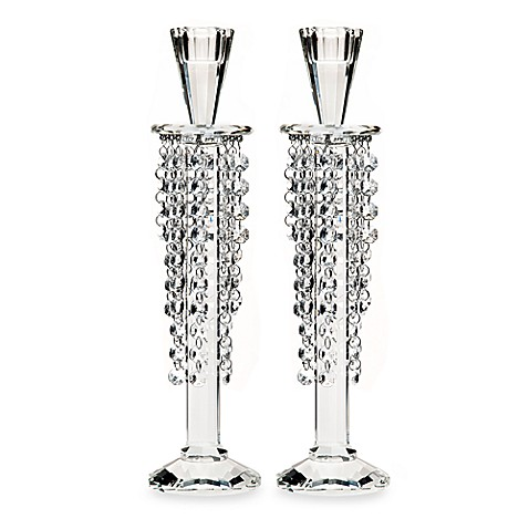 Godinger Dublin Crystal  Barcelona 12-Inch Candlesticks (Set of 2)