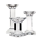 Godinger Dublin Crystal Metropolitan Pillar Candle Holders (Set of 3)