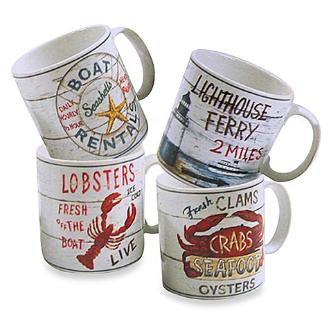 CasaModa® Driftwood 13-Ounce Mugs - Set of 4