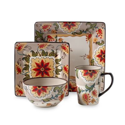 Tabletops Unlimited® Odessa 4-Piece Square Place Setting