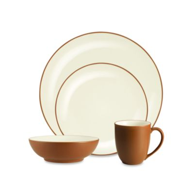 Noritake® Colorwave Coupe 4-Piece Place Setting in Terra Cotta