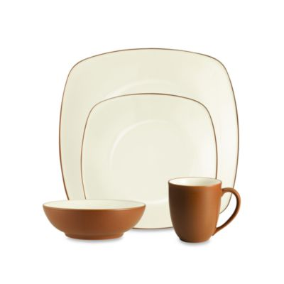 Noritake® Colorwave 4-Piece Square Place Setting in Terracotta