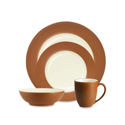 Noritake® Colorwave Rim 4-Piece Place Setting in Terracotta