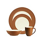 Noritake® Colorwave Terracotta Rim 4-Piece Place Setting