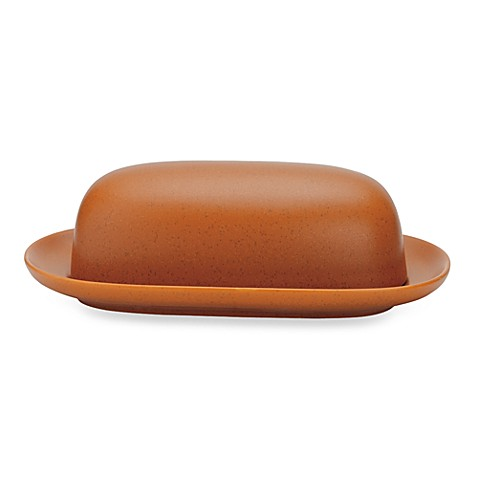 Noritake® Colorwave Covered Butter Dish in Terra Cotta