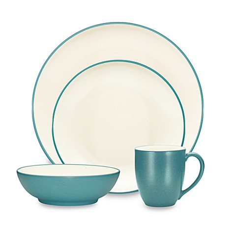 noritake colorwave coupe dinnerware collection in turquoise. Black Bedroom Furniture Sets. Home Design Ideas