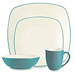 Noritake® Colorwave Turquoise Square 4-Piece Place Setting