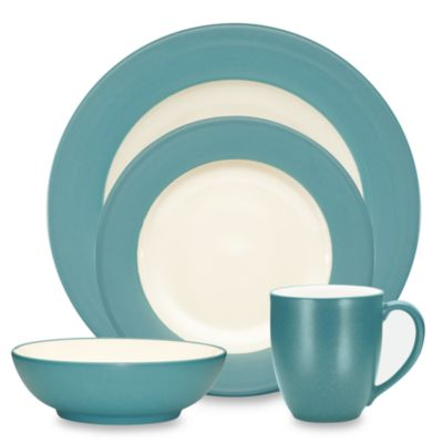 Noritake® Colorwave Turquoise Rim 4-Piece Place Setting