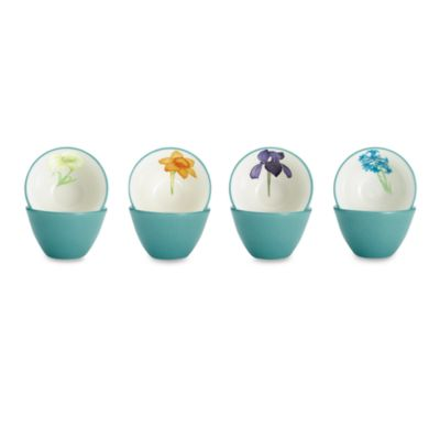 Noritake® Colorwave Turquoise 4-Inch Floral Mini Bowls (Set of 4)