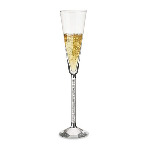 Oleg Cassini Crystal Diamond Toasting Flute (Set of 2)
