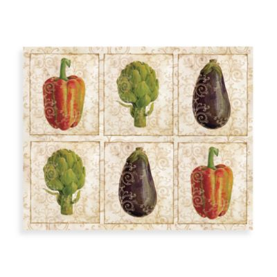 CounterArt® Glass 12-Inch x 15-Inch Cutting Board in Gourmet Vegetables Design