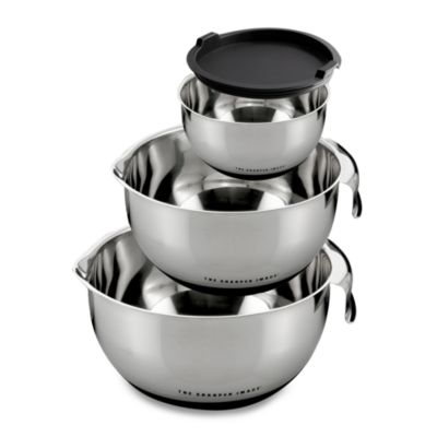 The Sharper Image® Mixing Bowls with Non-Skid Base (Set of 3)