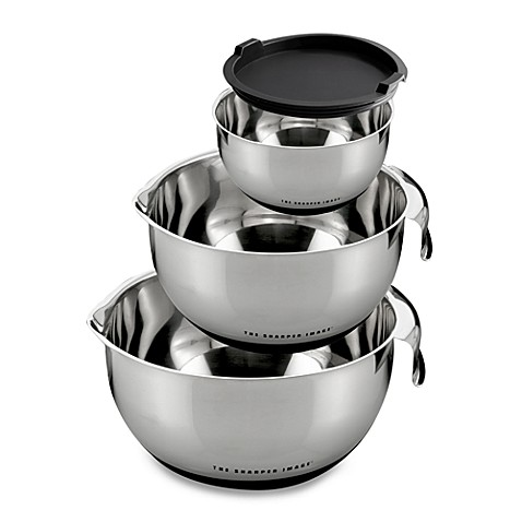 Sharper Image® 3-Piece Mixing Bowls with Non-Skid Base Set