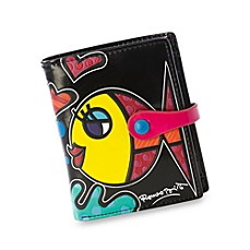 Britto™ by Giftcraft Fish Design Black Bi-Fold Wallet