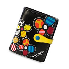 Britto™ by Giftcraft Flower Black Bi-Fold Wallet