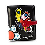 Britto™ by Giftcraft Butterfly Design Black Bi-Fold Wallet
