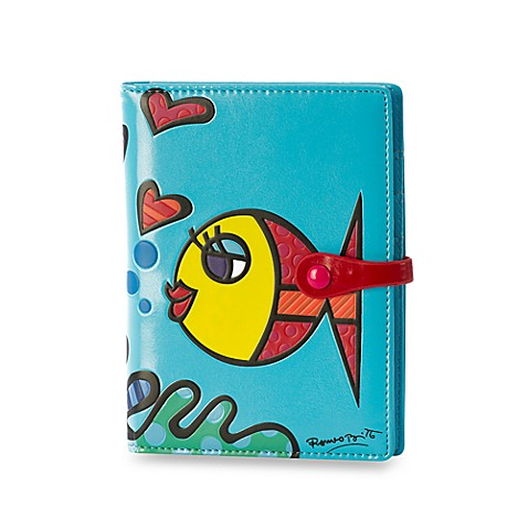 Britto™ by Giftcraft Passport Cover in Blue Fish