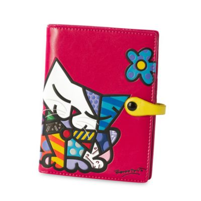 Britto™ by Giftcraft Passport Cover in Pink Cat