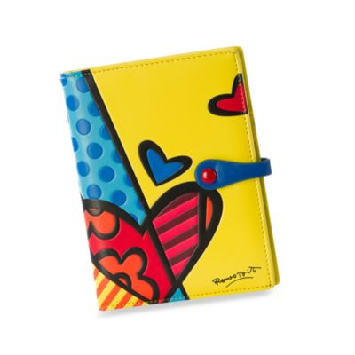Britto™ by Giftcraft Passport Cover in Yellow Heart