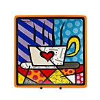 Britto™ by Giftcraft Tea Cup Design 8-Inch Square Side Plate