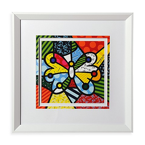 Britto™ by Giftcraft White Framed Poster in Butterfly