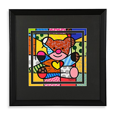 Britto™ by Giftcraft Black Framed Poster in Bear
