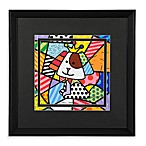 Britto™ by Giftcraft Black Framed Poster in Dog