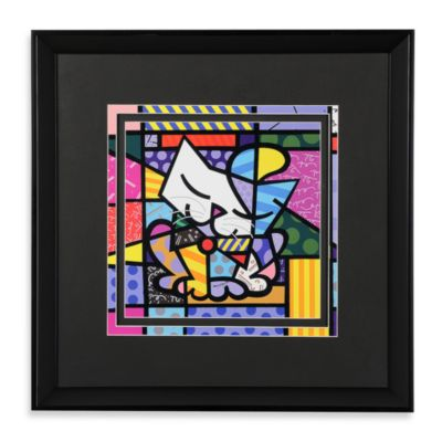 Britto™ by Giftcraft Black Framed Poster in Cat