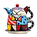 Britto™ by Giftcraft Cat Tea for One Teapot