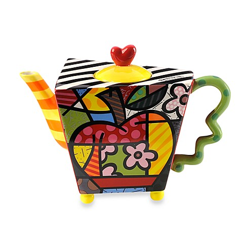 Britto™ by Giftcraft 48-Ounce Apple Teapot