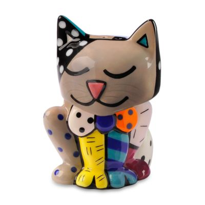 Britto™ by Giftcraft Cat Design Salt & Pepper Shaker Set