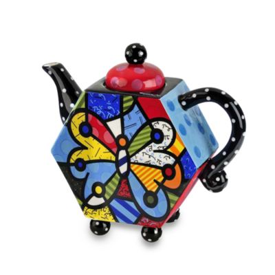Britto™ by Giftcraft Butterfly 48-Ounce Teapot