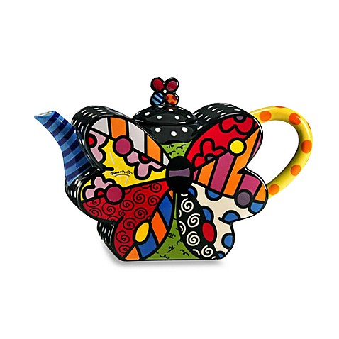 Britto™ by Giftcraft Butterfly 53-Ounce Teapot