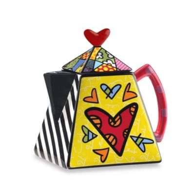 Britto™ by Giftcraft Two-Hearts 48-Ounce Teapot