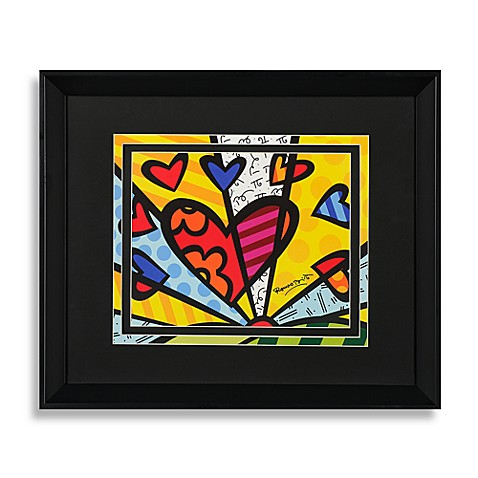 Britto™ by Giftcraft Heart Print with Black Frame