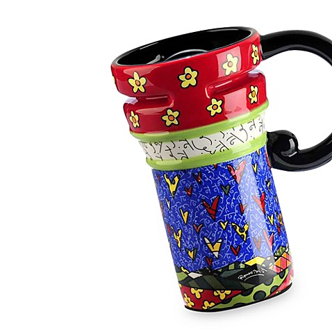 Britto™ by Giftcraft Hearts 14-Ounce Travel Mug