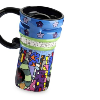 Britto™ by Giftcraft City Scape 14-Ounce Travel Mug