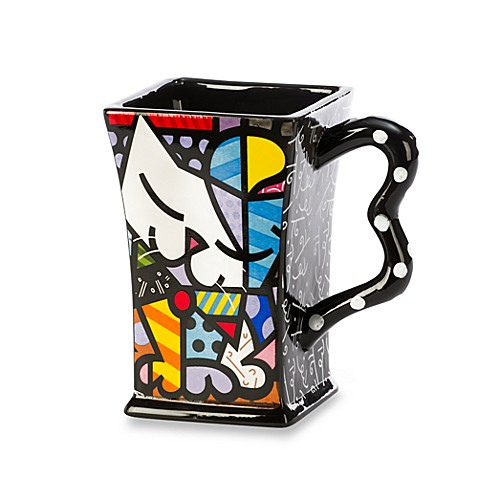 Britto™ by Giftcraft Sugar Cat 14-Ounce Square Mug