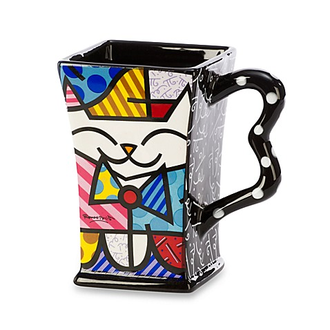 Britto™ by Giftcraft Cat 14-Ounce Square Mug
